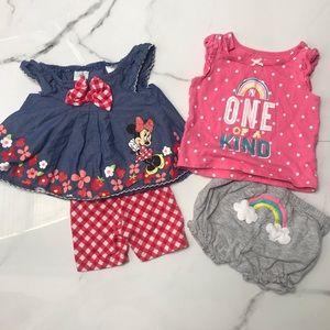 Bundle baby girl sleeveless outfits